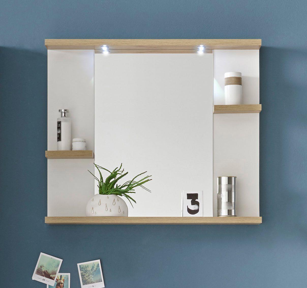 Element Indispensable Dans Votre Salle De Bain Le Miroir Avec 3 Tablettes Chene Palaos But Miroir Salle De Bain Idee Salle De Bain Tablette Salle De Bain