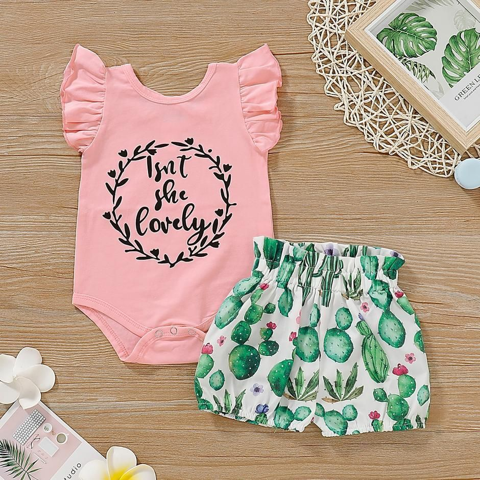 Pink Cactus Baby Romper Baby Shower Gift Baby Summer Romper Baby Jumpsuit Baby Romper| Baby Girl Clothes Baby Onesie