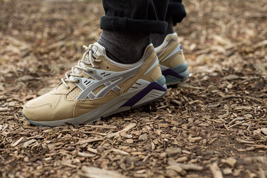 gel kayano trainer beige