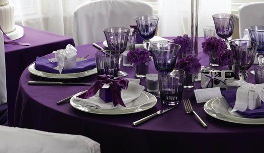 Decoration mariage violet et argent recherche google for Deco violet et gris