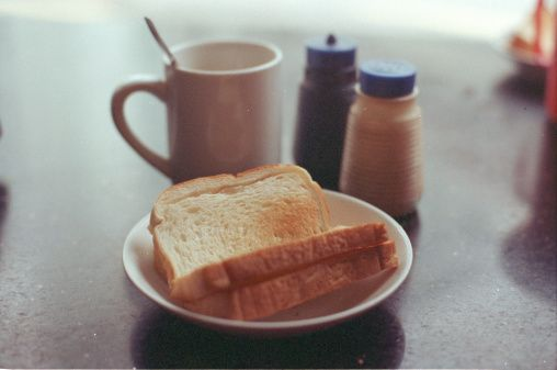ストックフォト : Kaya toast on a kopitiam