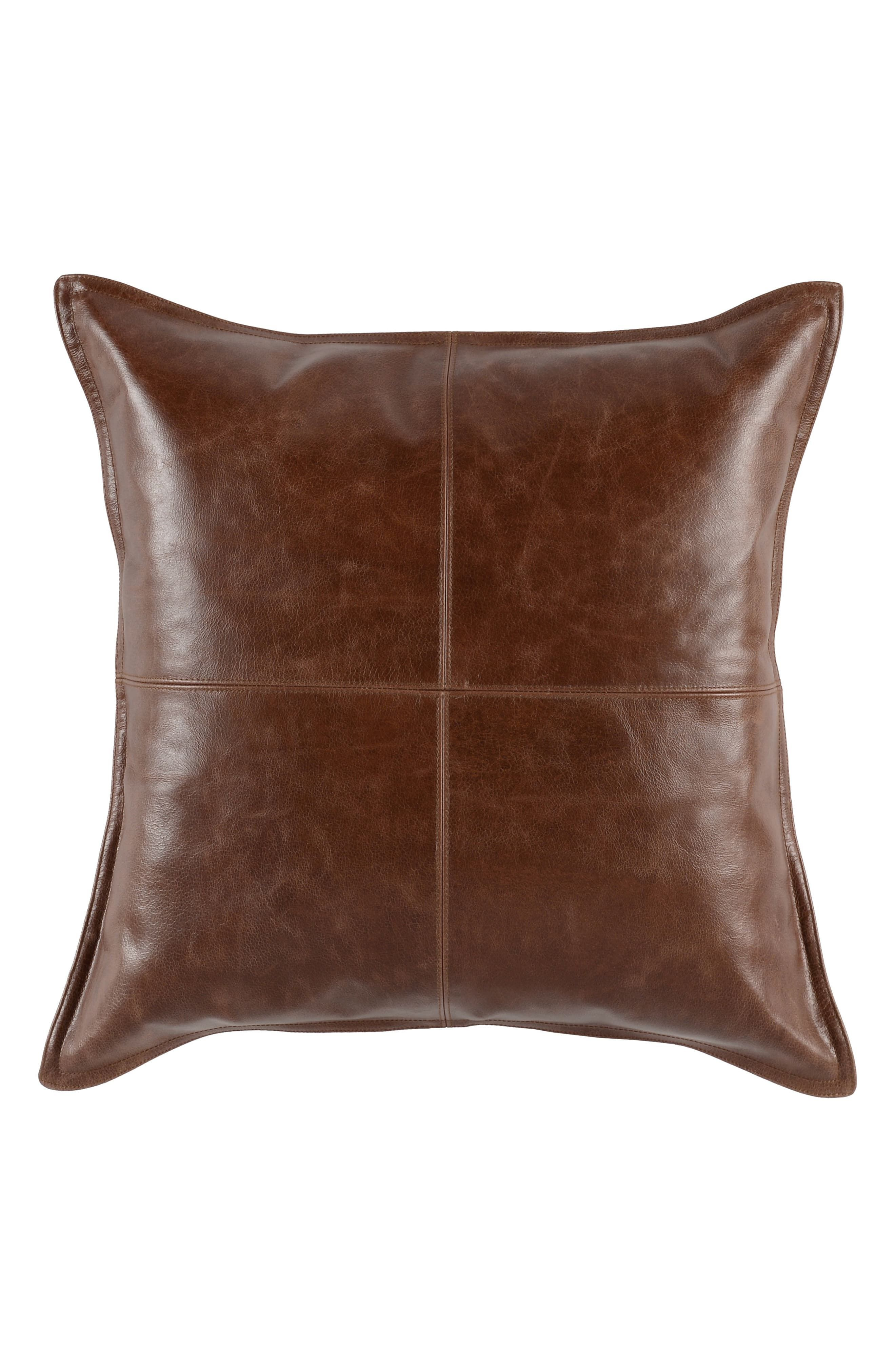 Kona Leather Accent Pillow