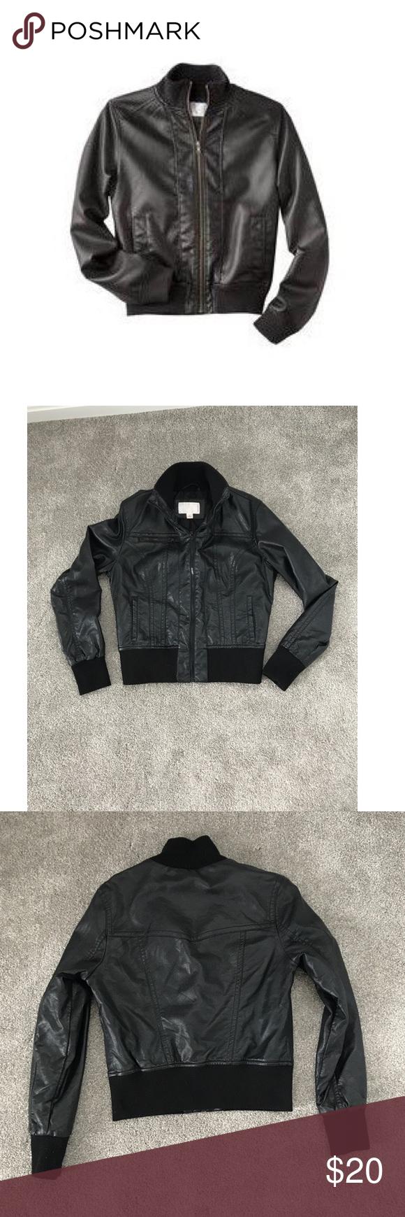 Faux Leather Jacket Faux Leather Bomber Jacket Faux Leather Jackets Leather Jacket [ png ]