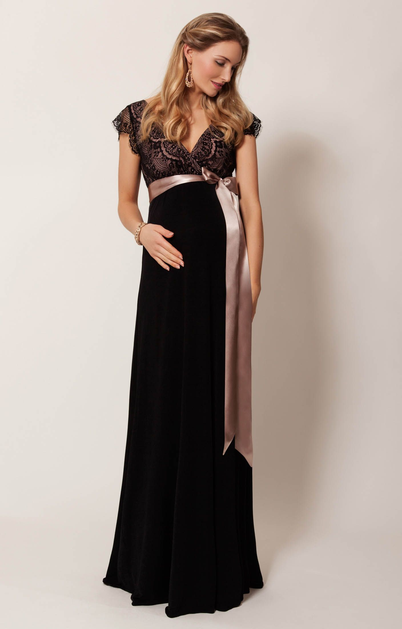 Robe cocktail rouge femme enceinte