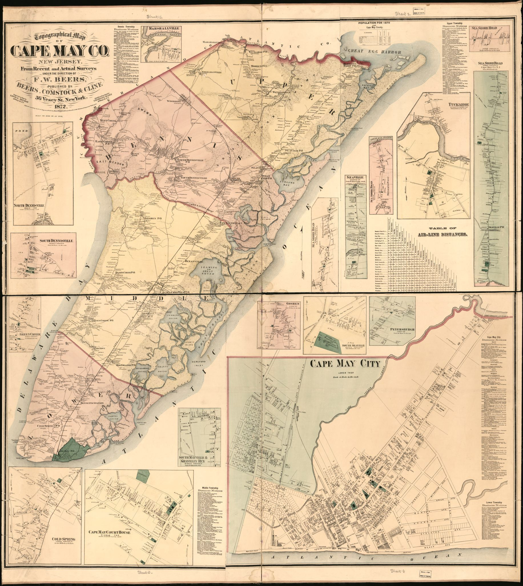 Image From Http Tile Loc Gov Image Services Jp2 Py Data Service Gmd Gmd381 G3813 G3813c La000444 Jp2 Res 3 Cape May Wall Maps Map