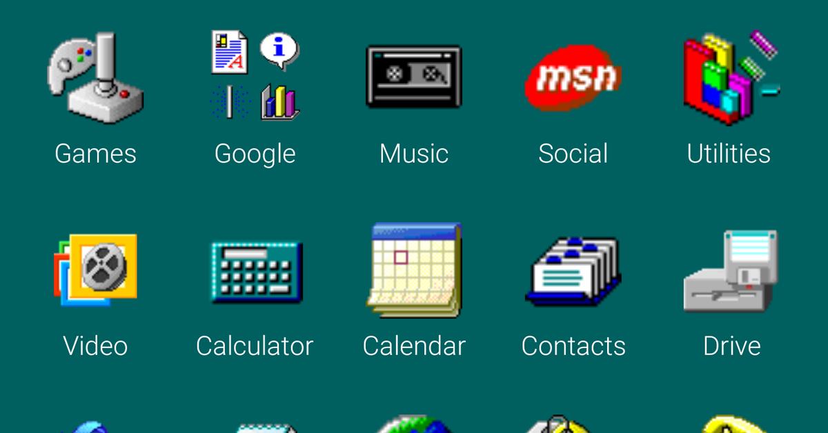 Ash Furrow On Twitter Windows 95 Computer Icon Iphone App Design