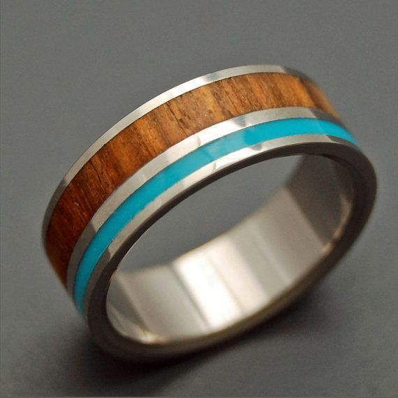 Wooded Cove - Wooden Wedding Rings via Etsy, $300.00