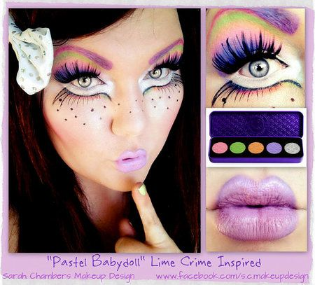 """Pastel Babydoll"" Lime Crime Inspired http://www.makeupbee.com/look_Pastel-Babydoll-Lime-Crime-Inspired_40702"