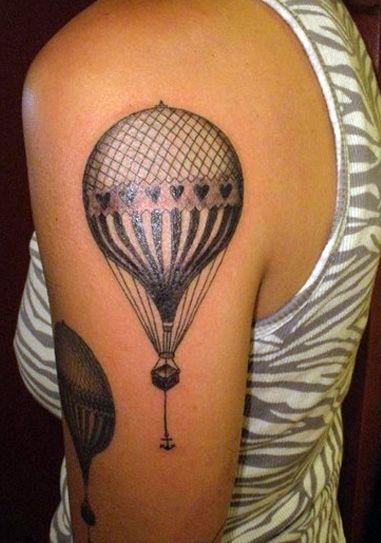 beautiful balloon tattoo