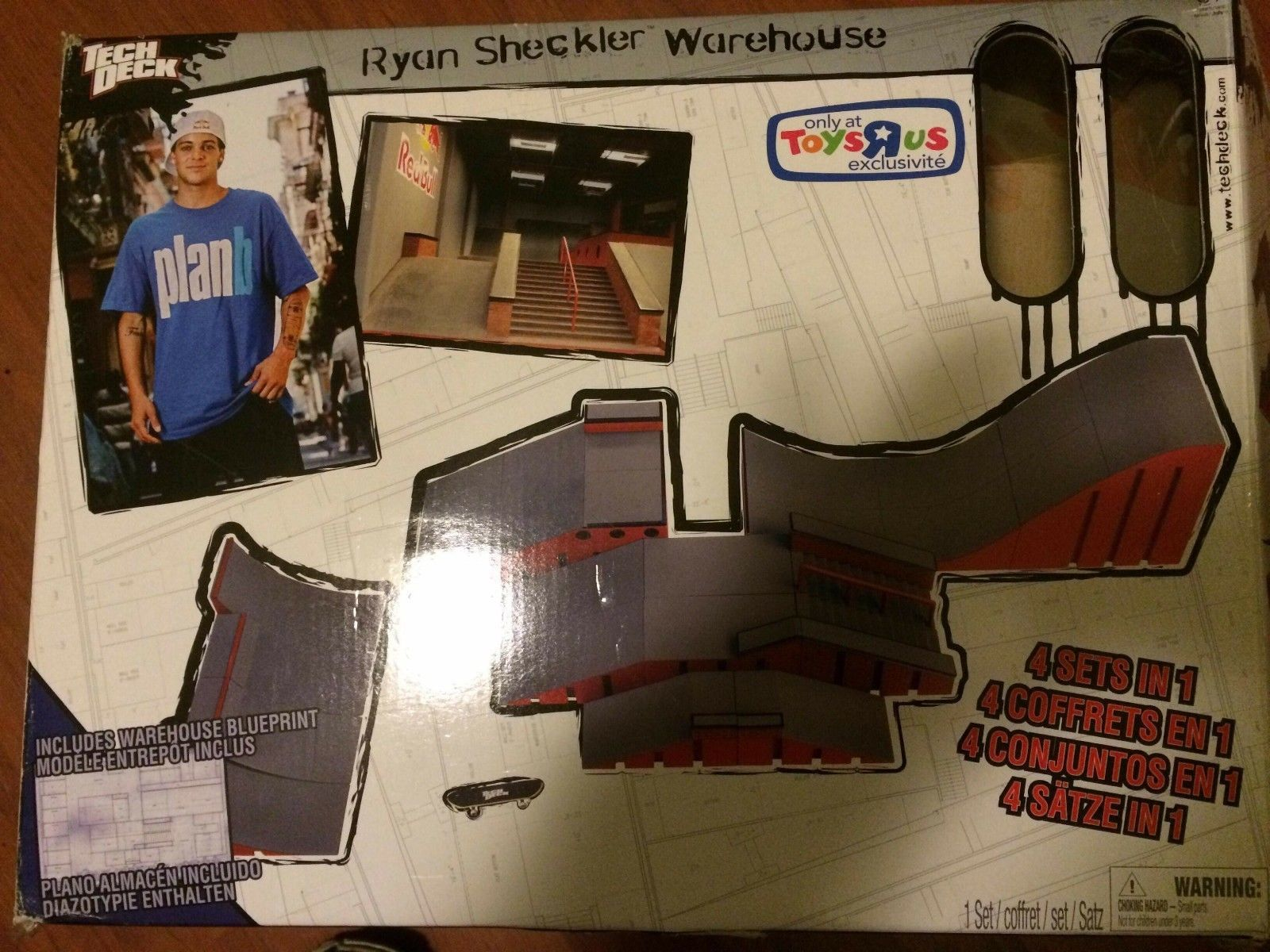 Tech Deck Ryan Sheckler Warehouse 4 Sets In 1 Toys R Us