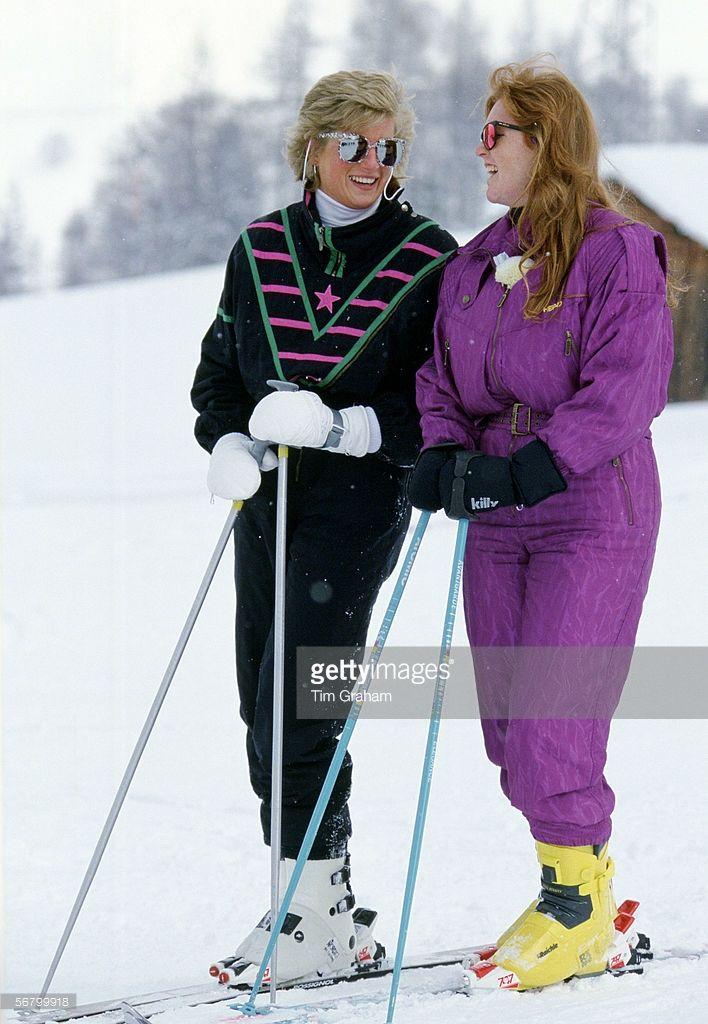 Princess Diana Talking With Sarah Duchess Of York At A