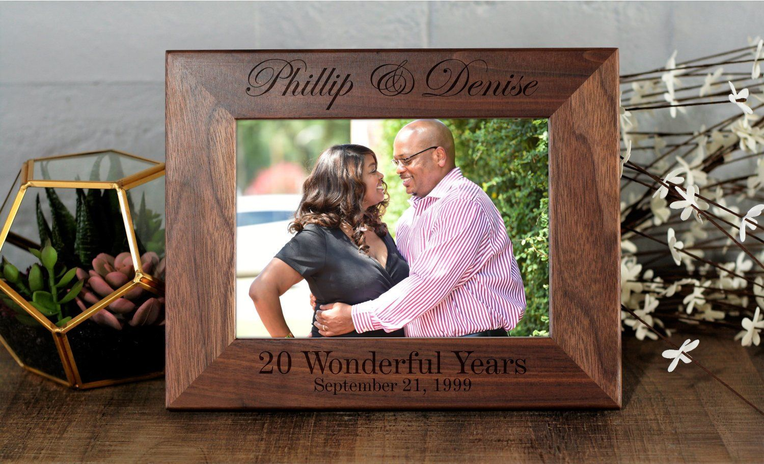 20th Anniversary Picture Frame Custom Picture Frame
