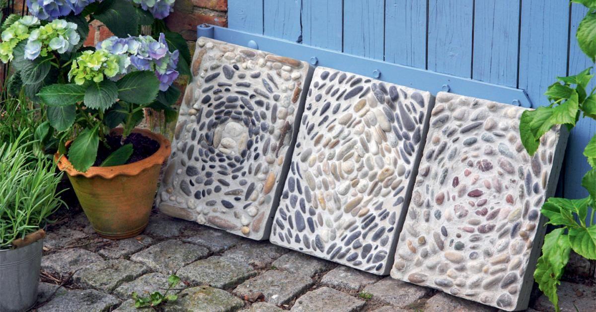 Mosaikplatten aus Beton selber machen Garden ideas and Gardens