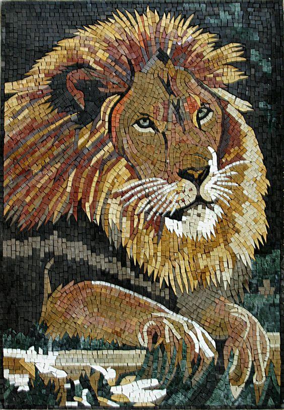 Mosaics Animal Designs Lion Mosaic Animals Mosaic