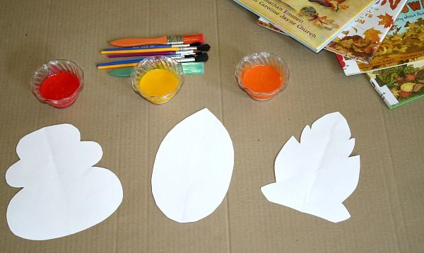 Fall Leaf Painting with Edible Paint