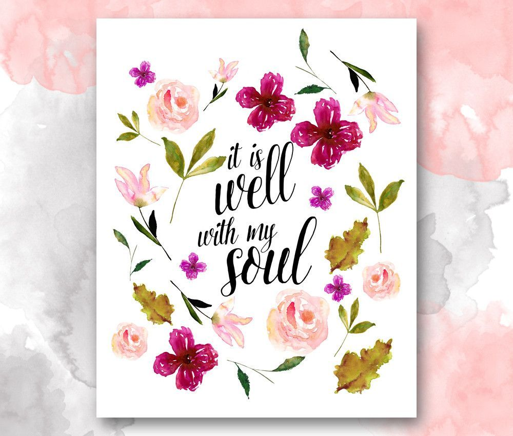 it is well with my soul christian hymn print bless the lord