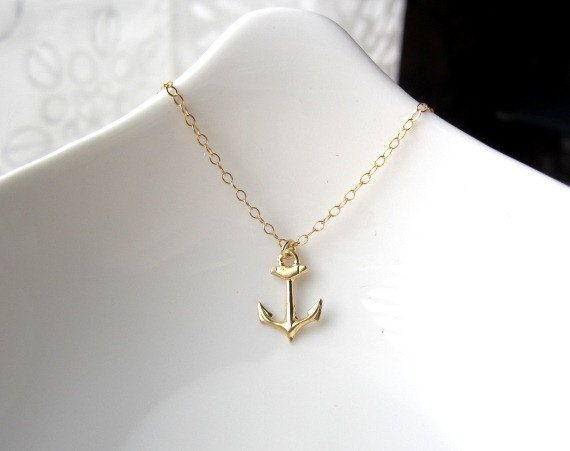 Tiny anchor necklace gold anchor necklace 14k gold filled anchor tiny anchor necklace gold anchor necklace 14k gold filled anchor charm nautical charm minimalist jewelry dainty jewelry aloadofball Images