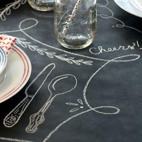 Chalkboard Paper Table Runner Chalkboard Table Runner Paper