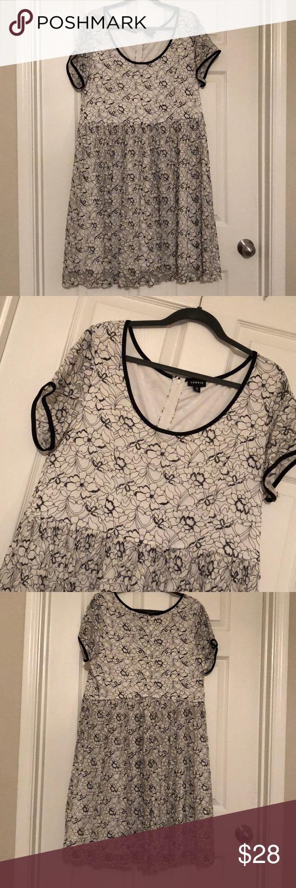 Lace dress torrid  Torrid white u black lace dress  My Posh Picks  Pinterest  Torrid