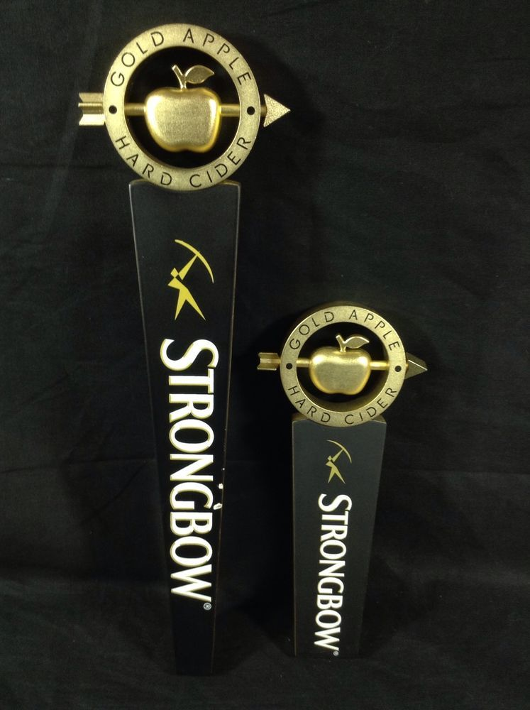 2 Strongbow Gold Apple Hard Cider Tap Handles Keg Knobs | Apples