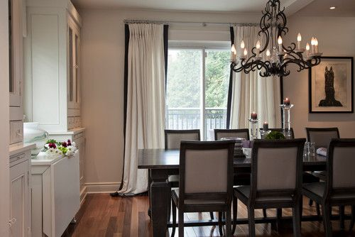 White Curtains With Black Trim