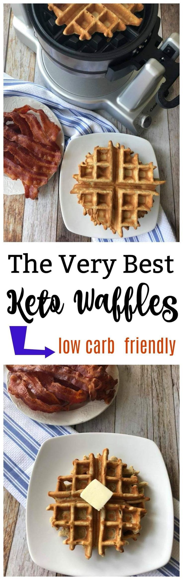 The Very Best Keto Waffles (low carb) -