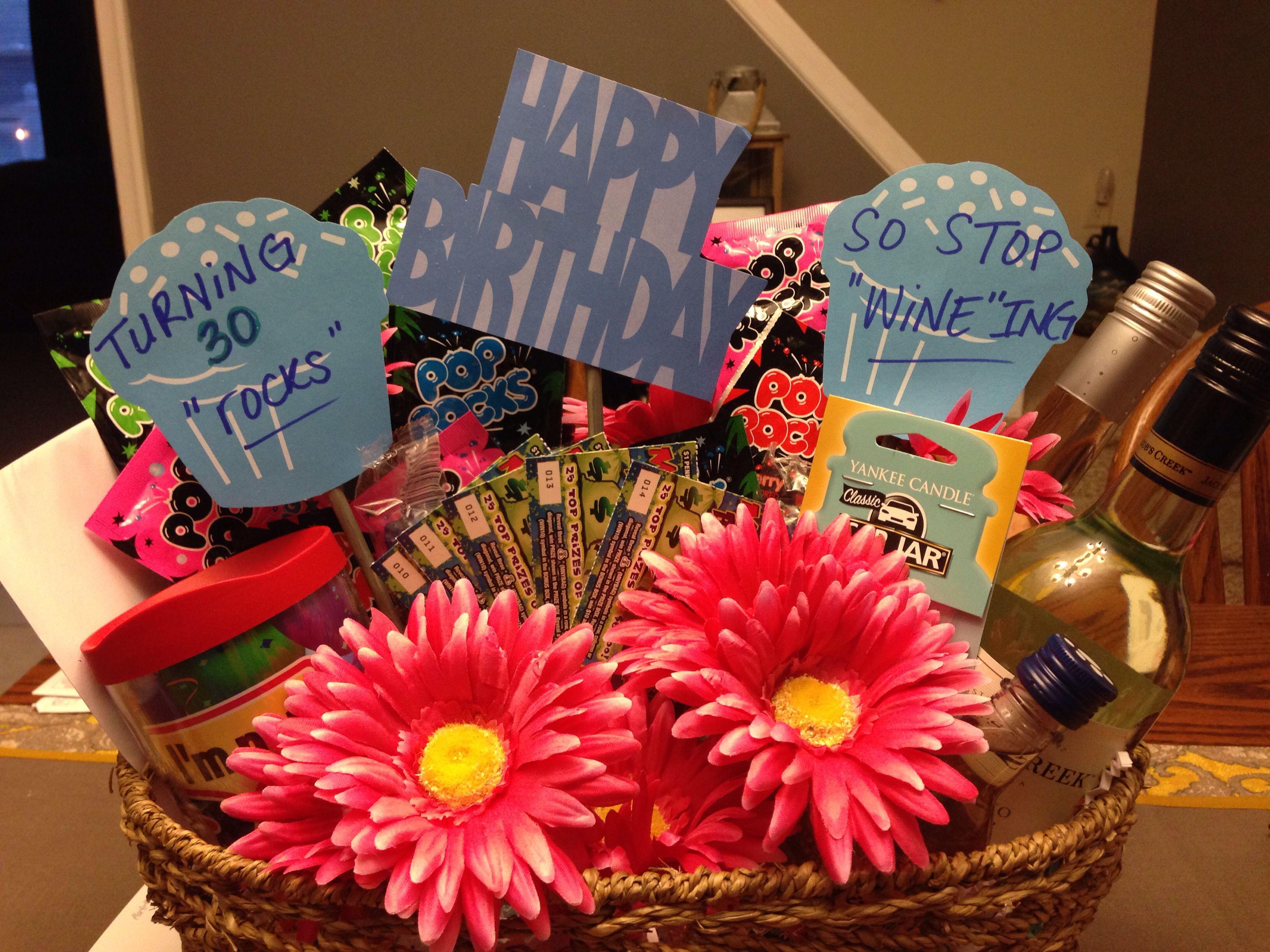 30th Birthday Gift Basket 30 Rocks