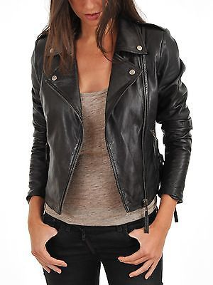 new women 100 genuine lambskin leather jacket stylish. Black Bedroom Furniture Sets. Home Design Ideas