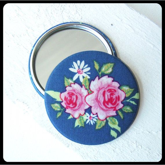 Floral Fabric Pocket Mirror ~ Best Christmas Gifts for Moms