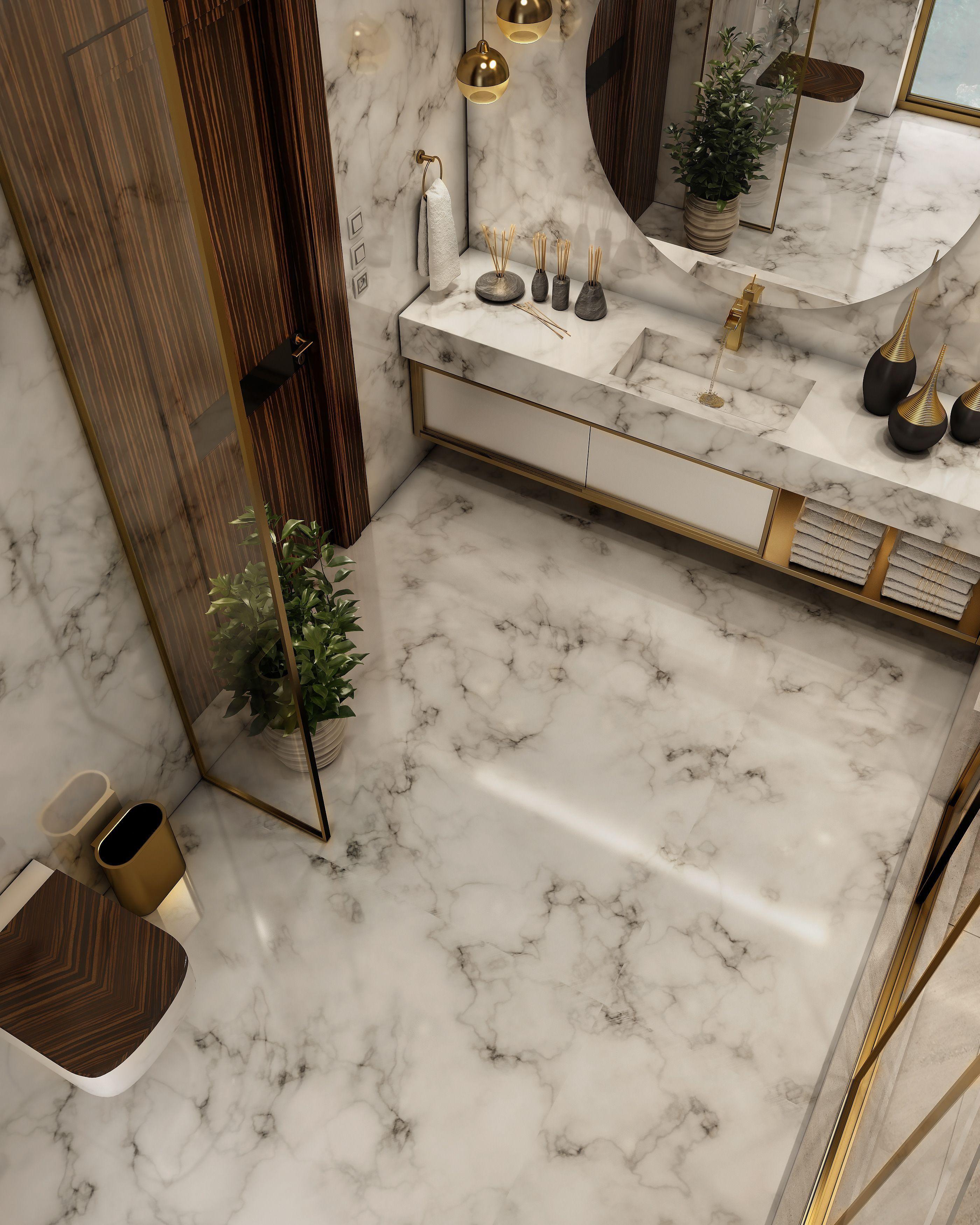 Bathroom Luxurious Luxurious Bathroom On Behance Em 2020 Ideias Para Casas De Banho Banheiros Luxuosos Decoracao Do Banheiro