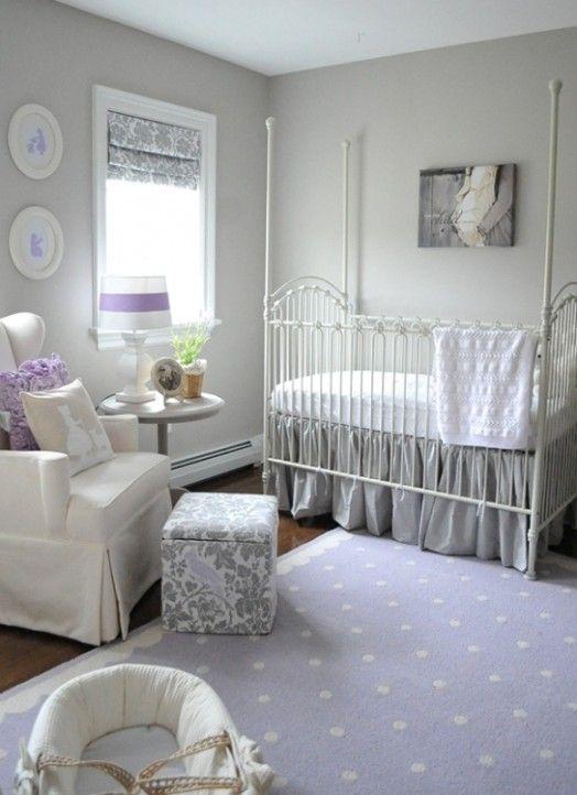 Quarto De Bebê Lilás Bagagem Mãe Lilac Nursery Room