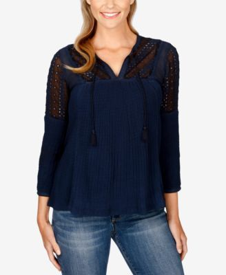 Lucky Brand Embroidered Peasant Top | macys.com