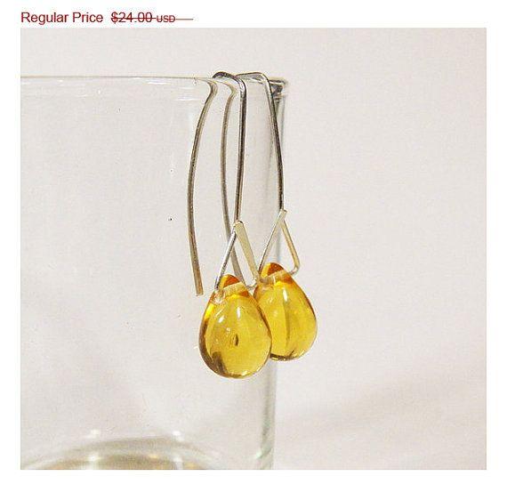SALE 30 OFF  Modern Czech glass Dangles  by ArtAffectionsJewelry, $16.80