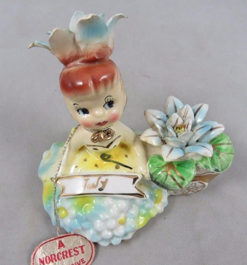 Vintage norcrest flower of the month girl figurine miss water vintage norcrest flower of the month girl figurine miss water lily july izmirmasajfo Gallery