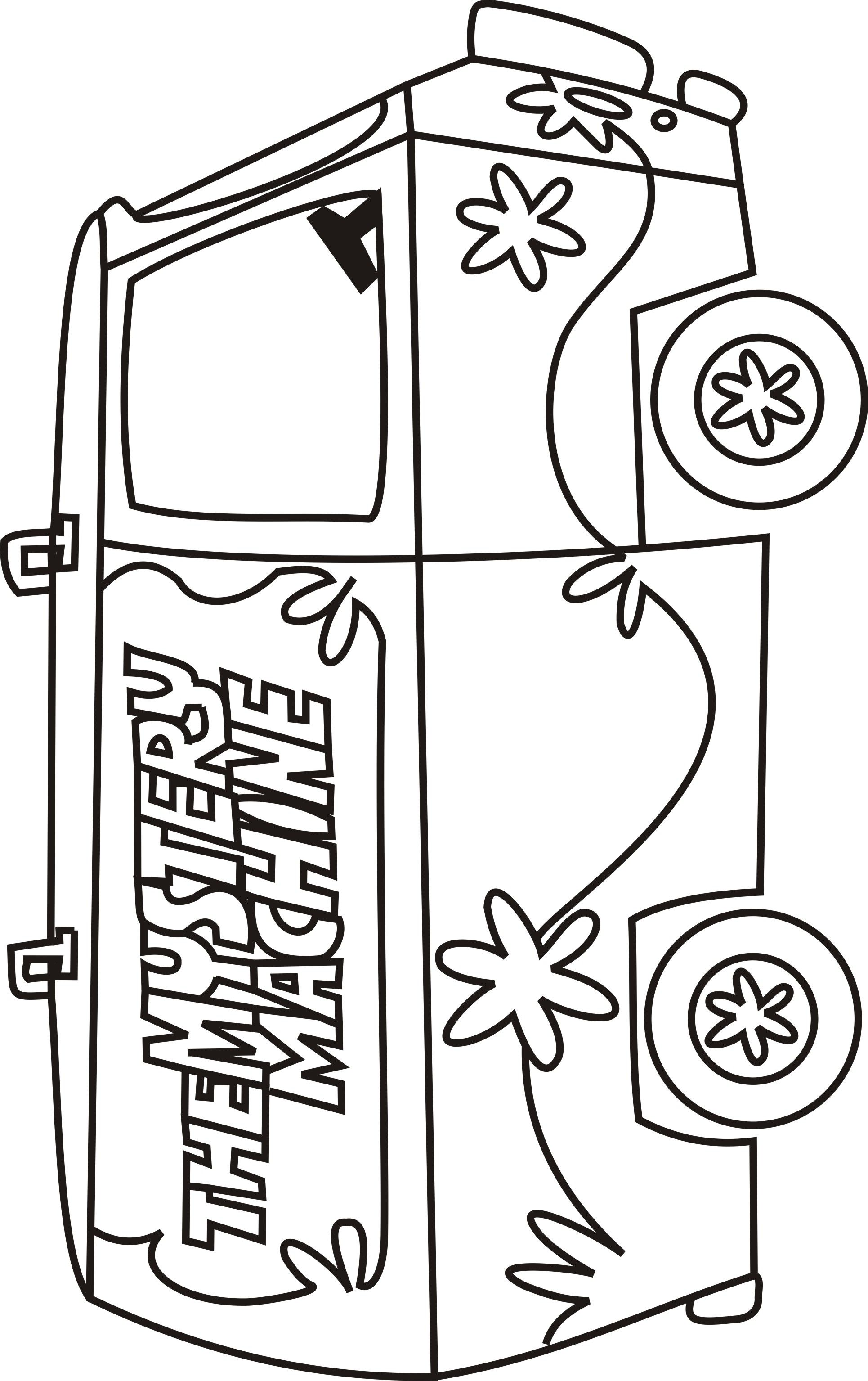Scooby doo mystery machine coloring pages scooby doo for Mystery picture coloring pages
