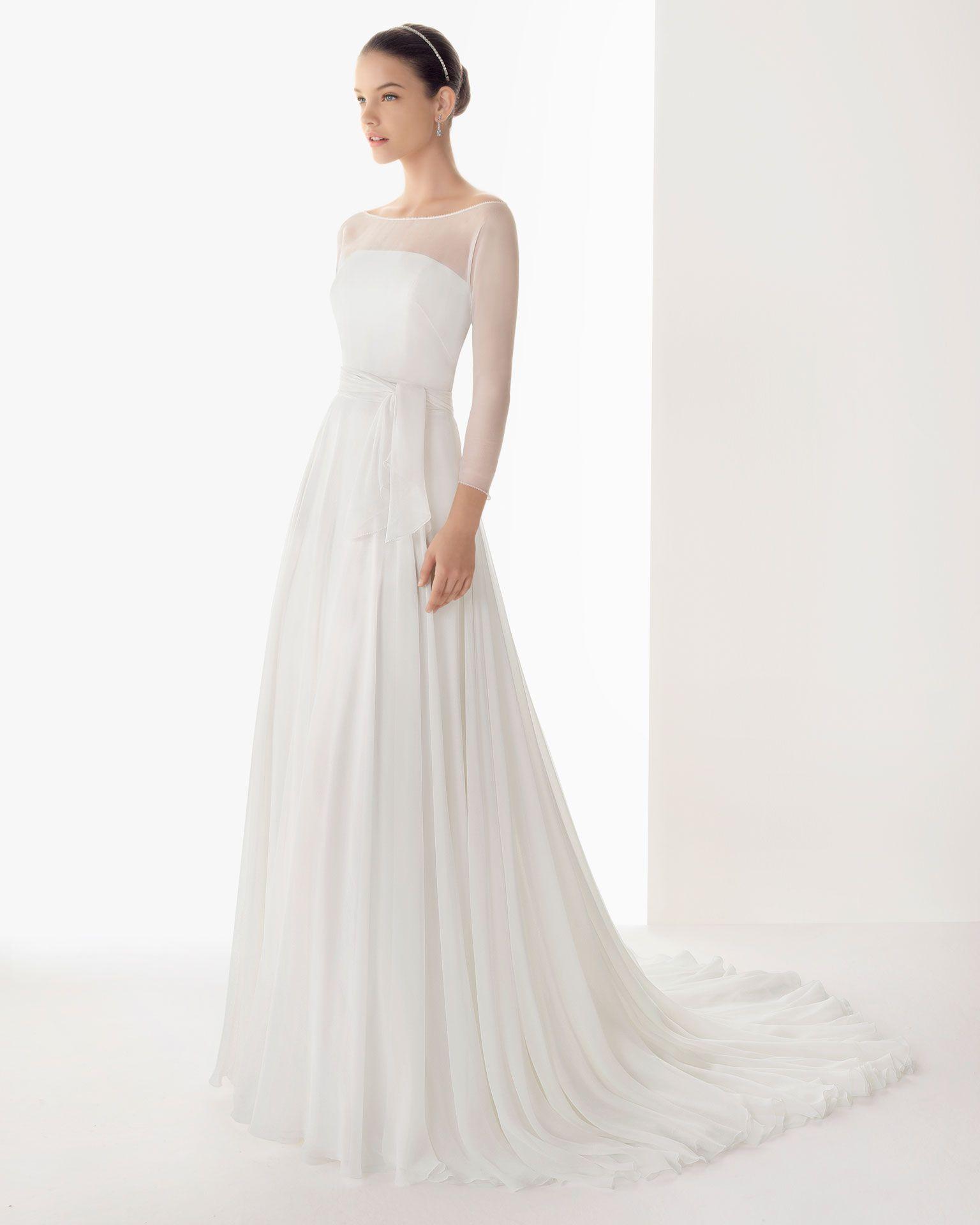 vestidos de novia sencillos y elegantes - Buscar con Google | Boda ...