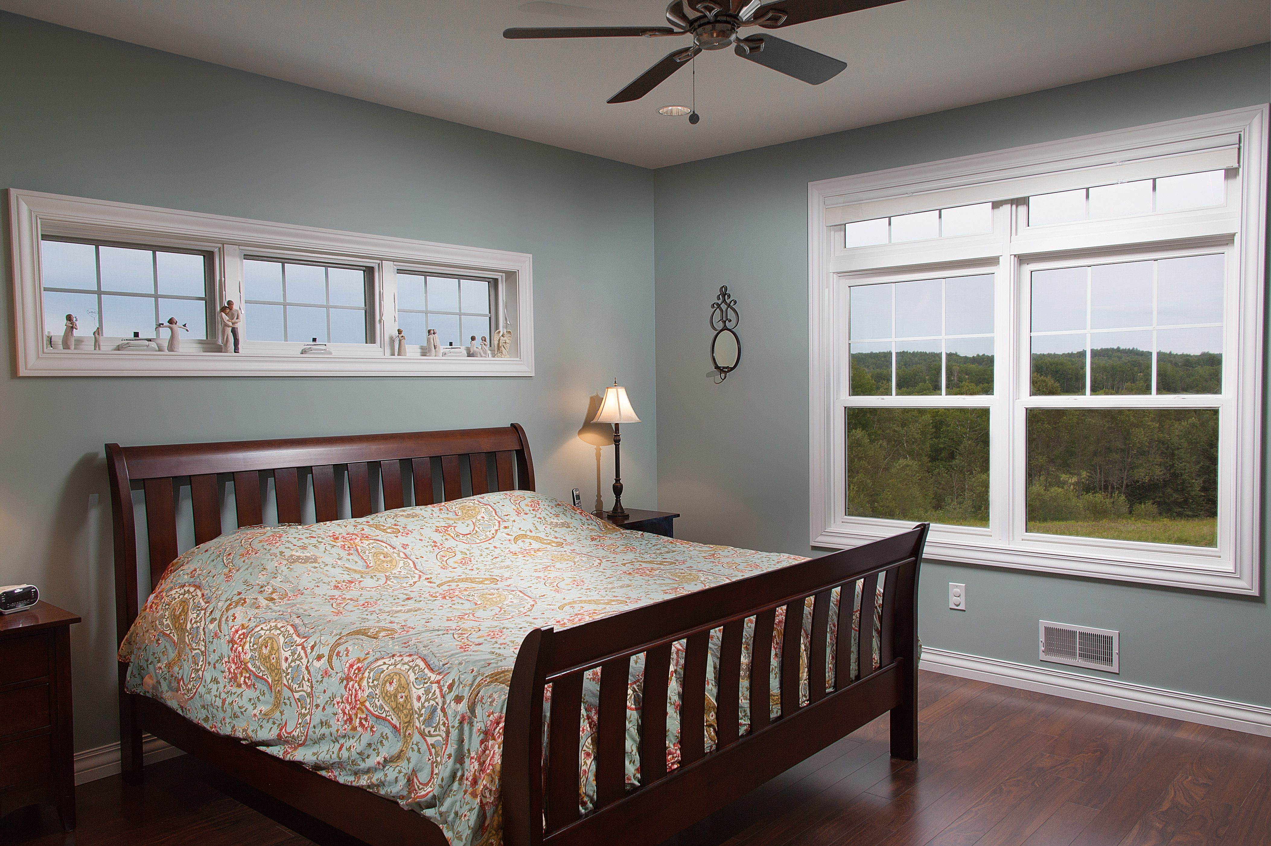 Awning windows bedroom - Bedroom 1 9 Tall Ceiling And An Awning Windows Above The