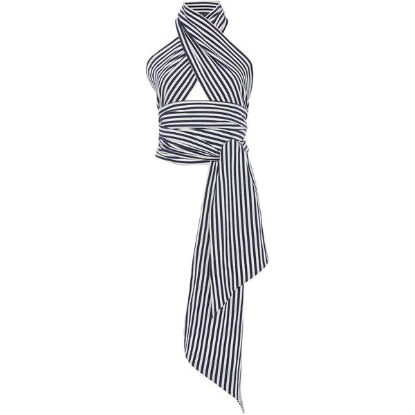 6dca9a51a9d7 MDS Stripes Striped Everything Scarf ( 145) ❤ liked on Polyvore featuring  accessories