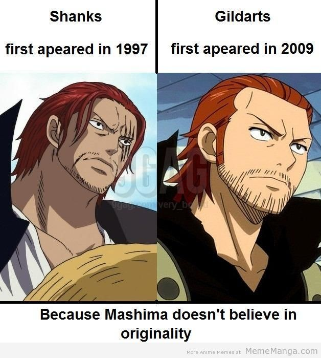 shanks and gildarts. these two look too similar ...