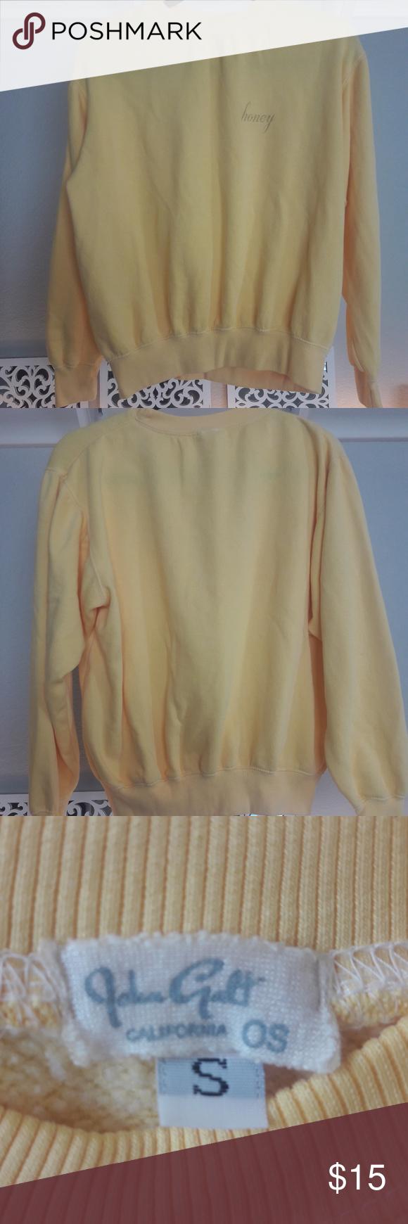John Galt Brandy Melville Honey Sweatshirt Brandy Melville