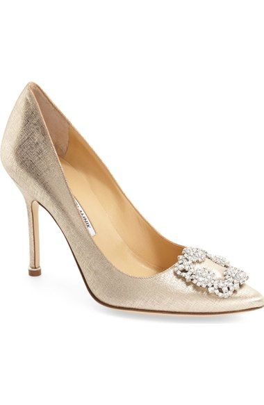 5c52efa5041 Manolo Blahnik  Hangisi  Jeweled Pump (Women) (Nordstrom Exclusive)  available at  Nordstrom