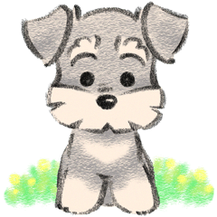 Stickers Of Miniature Schnauzer Schnauzers Dog Drawing Cute Drawings Animal Drawings