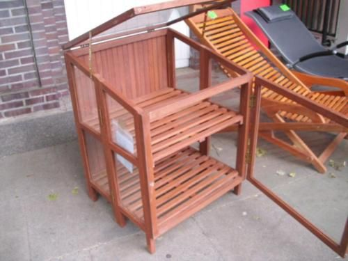 Faltbares Gewächshaus FSC Holz Glashaus 60x60x81 neuwertig