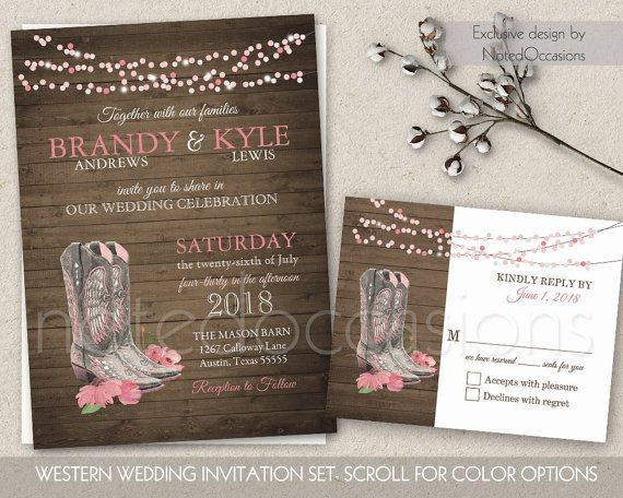 western wedding invitations cheap - 28 images - designs western ...