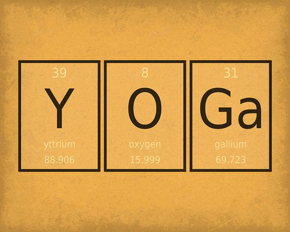 Periodic Element Word Poster - Yoga - Wall Art Print - Available as ...