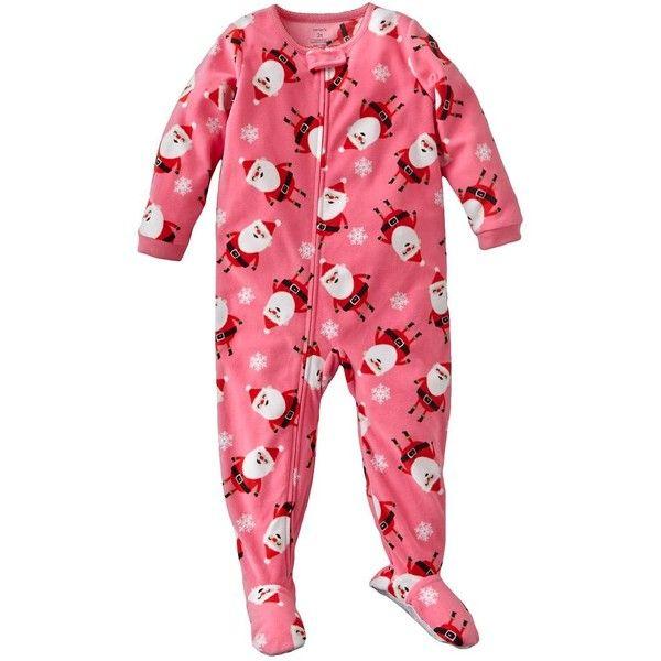 e8c01100f7d6 Carter s Christmas Santa Snowflake Footed Pajamas Baby ( 12 ...