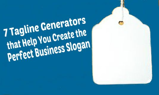 7 Tagline Generators that Help You Create the Perfect