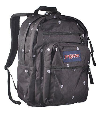 JanSport Big Student Backpack - 2100cu in Black Pop Skulls, One ...