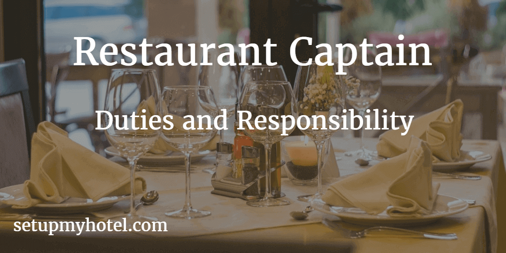 Restaurant Captain Job Description Hotel Restaurant