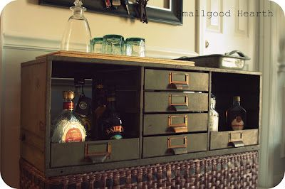 filing cabinet to bar